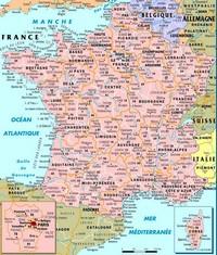 carte de france détaillée
