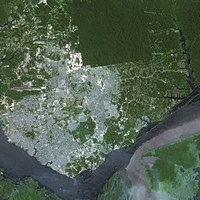 Carte de Manaus photo satellite