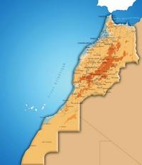 Carte du Maroc avec un effet 3D