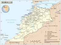 Carte du Maroc informations diverses