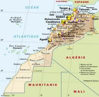 Carte des aéroports du Maroc
