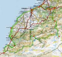 Carte des routes du Maroc