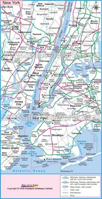 Carte des routes de New York City