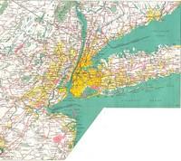 Carte de New York City et des alentours