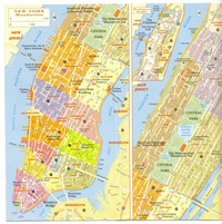 Carte de Manhattan et zoom sur Central Park