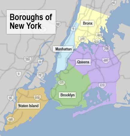 Les arrondissements de New York