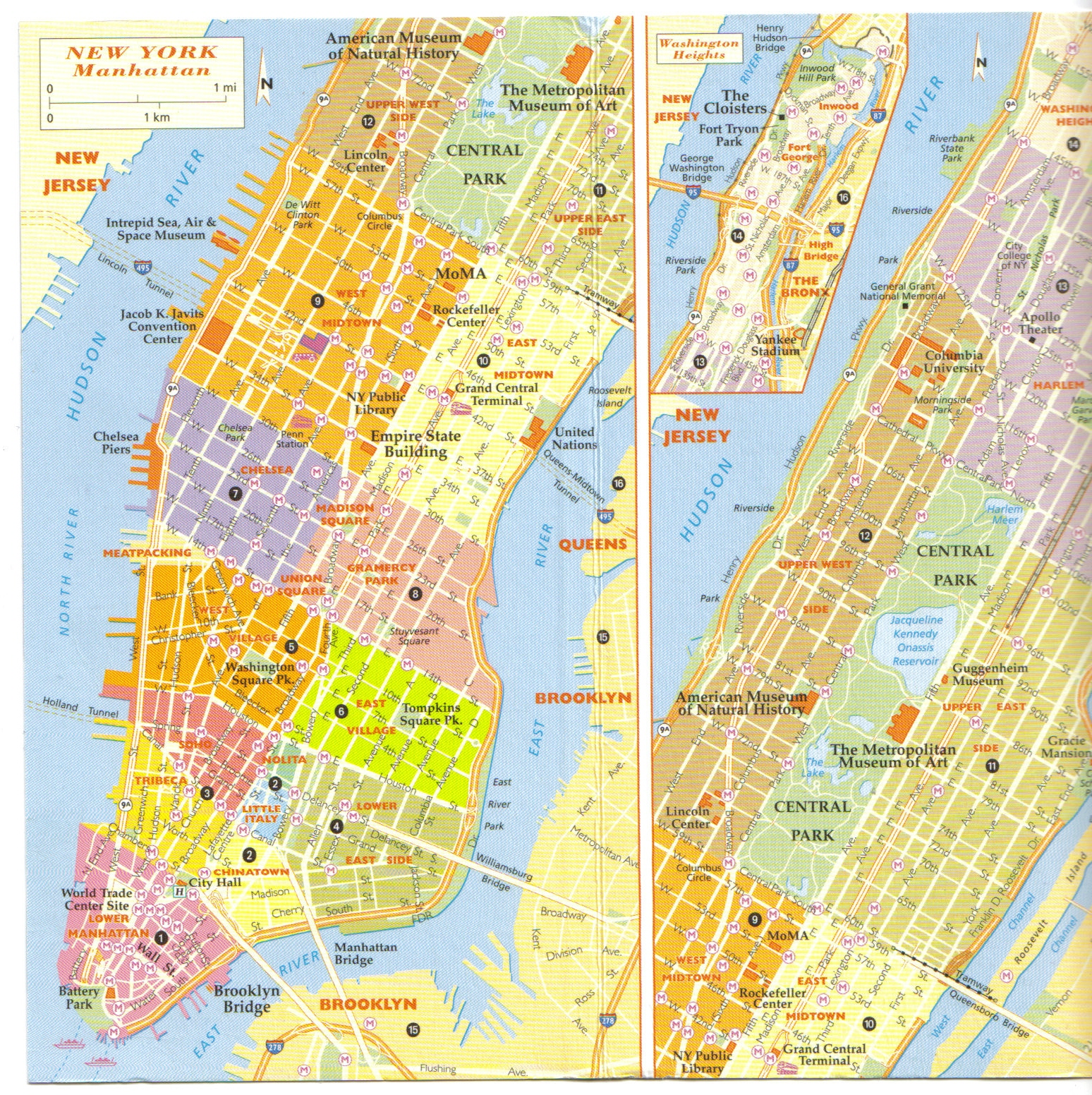 info carte quartier de new york voyages cartes. Black Bedroom Furniture Sets. Home Design Ideas