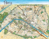Carte de Paris dessinée