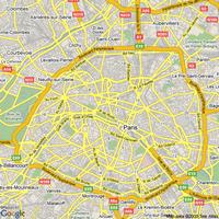 Carte des axes routiers de Paris