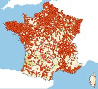 Carte des zones d'emission des principaux polluants
