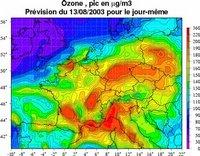 Le pic d'ozone du 13/08/03
