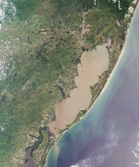 Carte de Porto Alegre photo satellite
