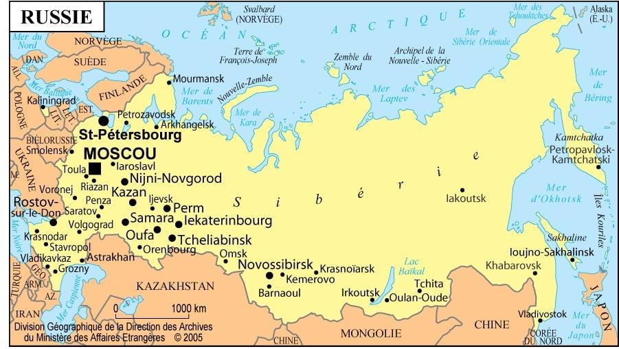 carte de la russie - Image