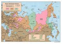 Carte de la Russie et des divisions administratives
