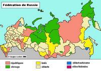 Carte des fédérations de la Russie