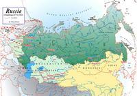 Carte de la Russie et du transibérien.