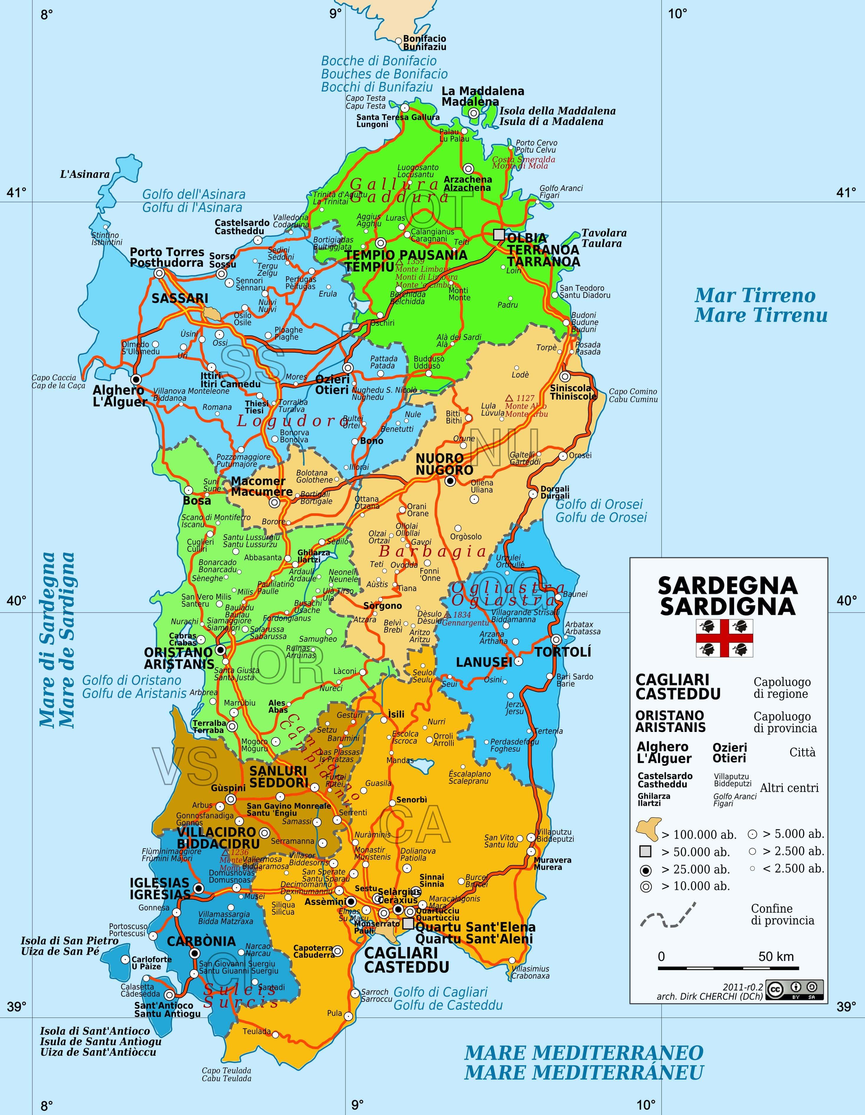 Carte Sardaigne Nord.Cartograf Fr Les Cartes De La Sardaigne