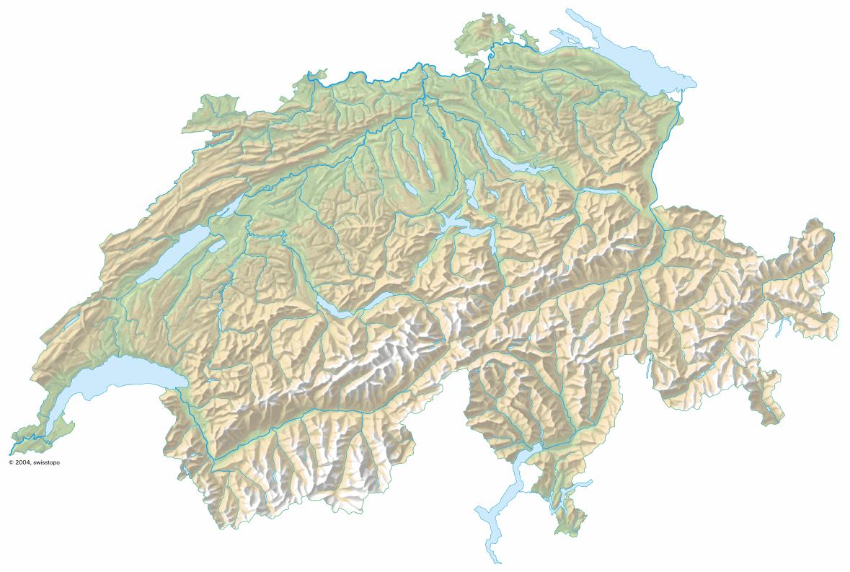 suisse relief carte-