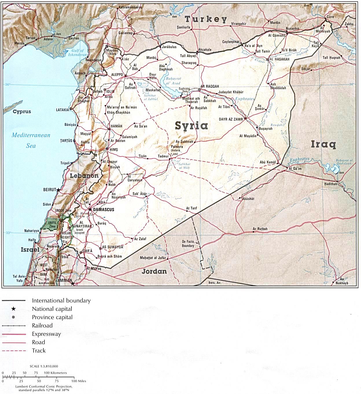 Résultats de recherche d'images pour «carte syrie»