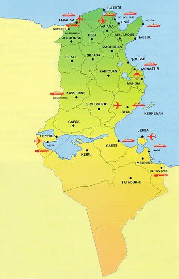 carte tunisie - Image