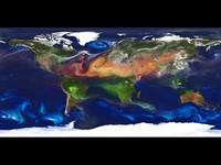 Carte du monde avec le modèle atmosphérique de la NASA