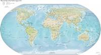 Carte du monde physique 2013