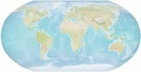 Carte du monde vierge avec le relief
