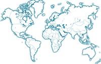 Carte du monde vierge décorative
