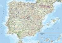 Carte des routes de l'Espagne