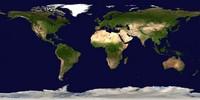 Carte du monde satellite