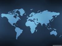 Carte monde vierge sur fond bleu