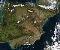 Carte satellite de l'Espagne