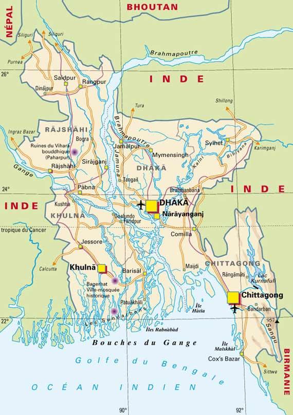 Cartograf.fr : Carte Bangladesh