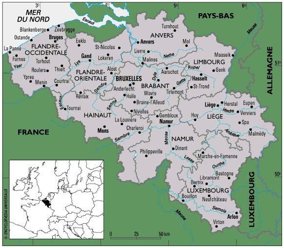 Carte Belgique Communautes Et Regions.Cartograf Fr Les Pays La Belgique Page 2