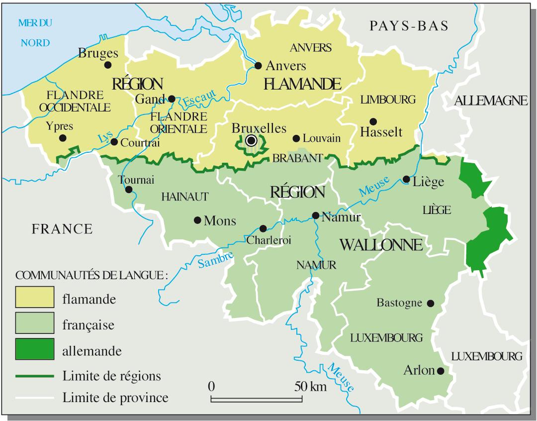 Carte Belgique Communautes Et Regions.Cartograf Fr Les Pays La Belgique Page 1