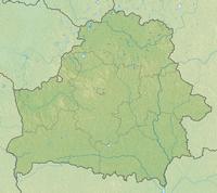 Carte de la Biélorussie grande carte muette