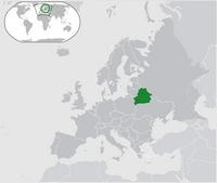 Carte de la Biélorussie avec la localisation en Europe et dans le monde