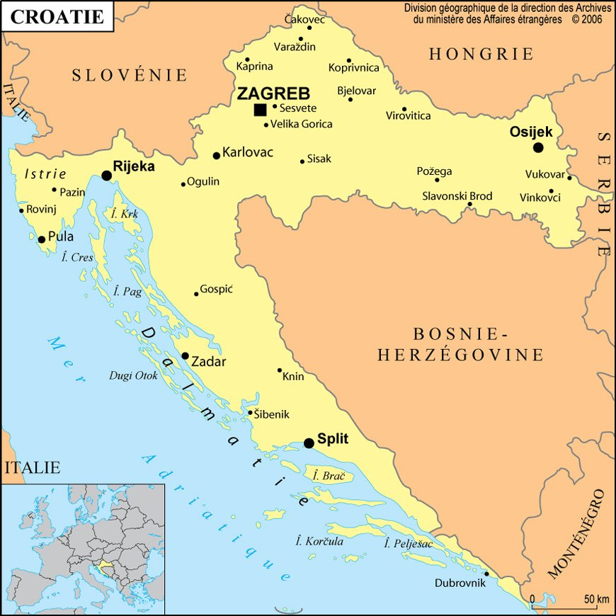 Cartograf.fr : Les pays : La Croatie