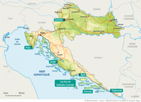 Carte Croatie avec les grandes villes et les routes