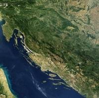 Carte de la Croatie photo satellite