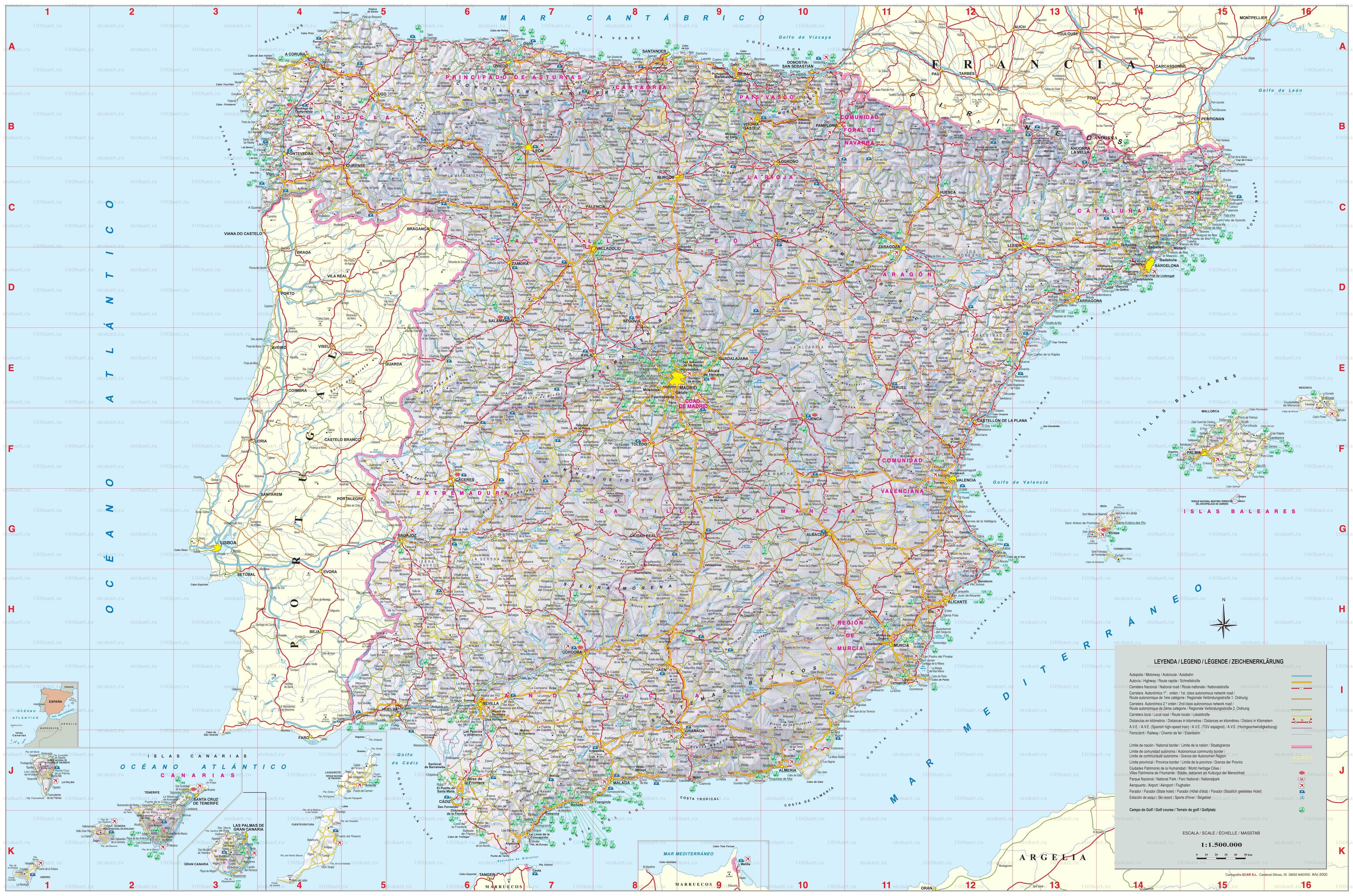 Cartograf.fr : Carte Espagne : page 5