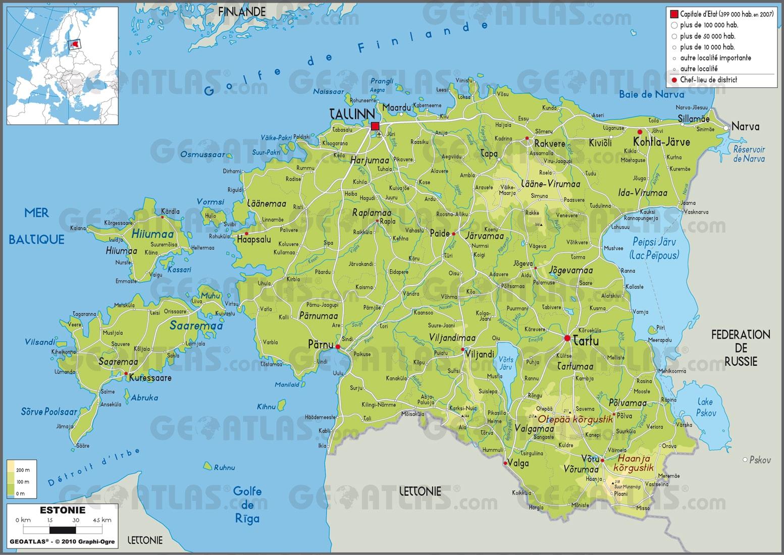 Cartograf.fr : L'Estonie : page 2