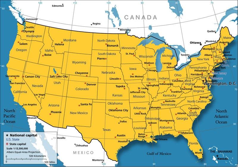 Exceptionnel Cartograf.fr : Les Etats-Unis : page 2 ON31