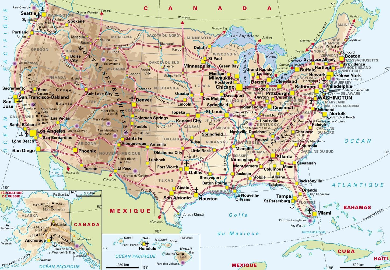 Cartograf.fr : Les Etats Unis : page 2