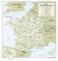 Carte de France capitale administrative