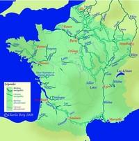 Carte de France fluviale