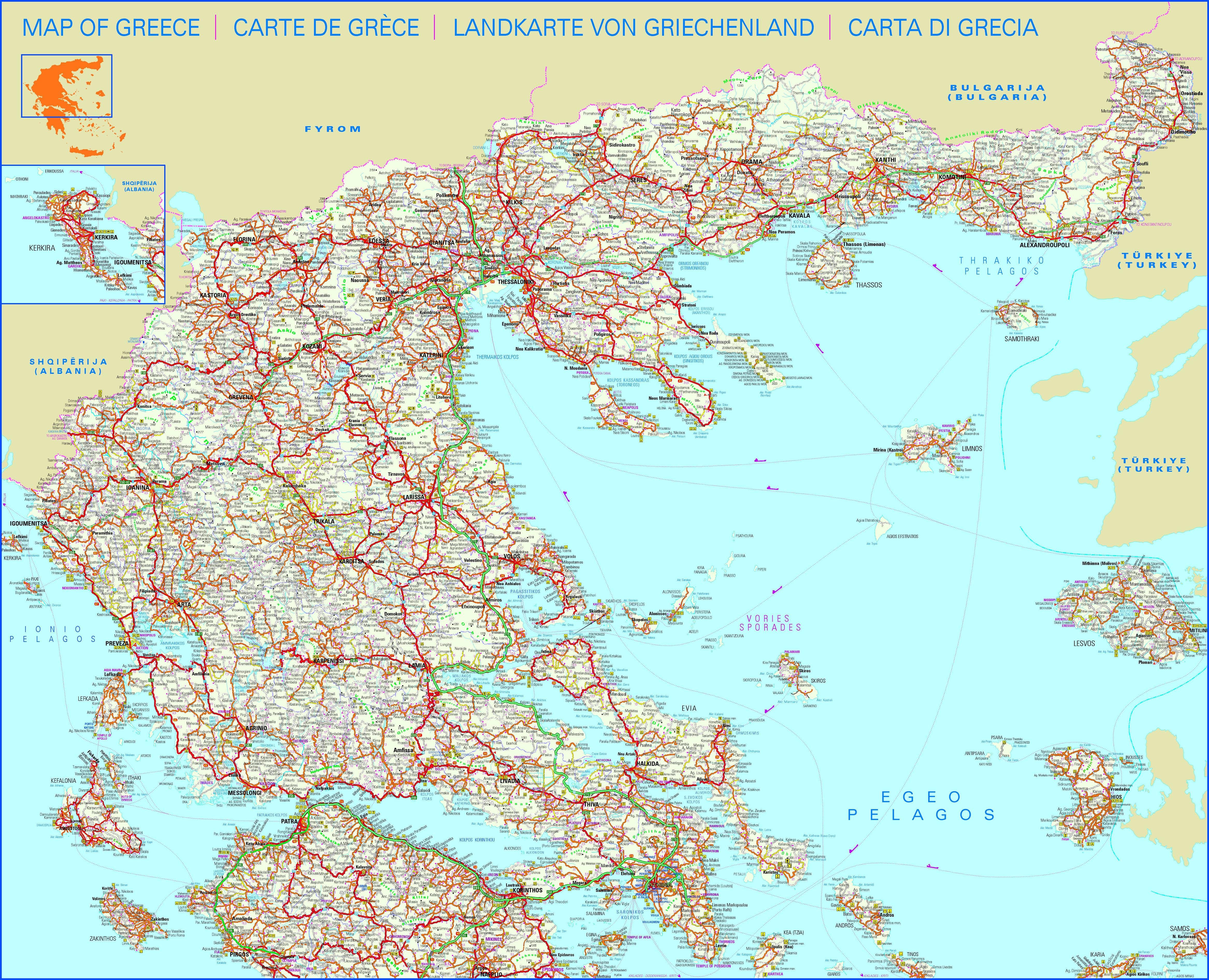 Carte Routiere Crete En Francais.Carte Routiere Grece En Francais Effegetangesj
