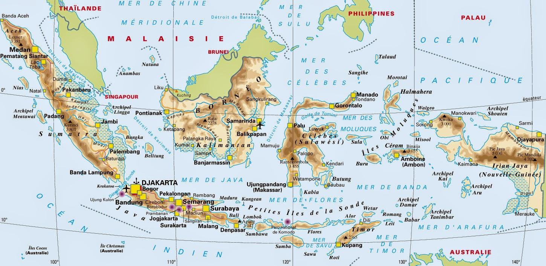 Carte Asie Du Sud Est Avec Villes.Cartograf Fr Carte Indonesie