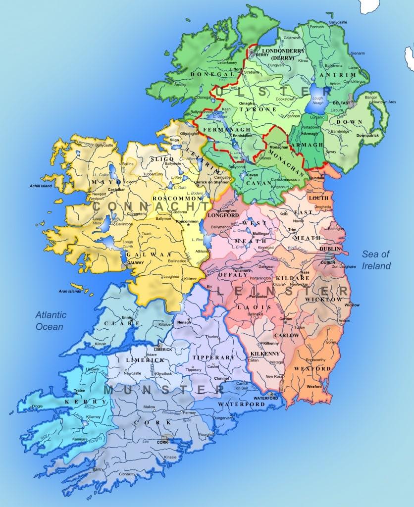 Irlande carte touristique for Carte touristique