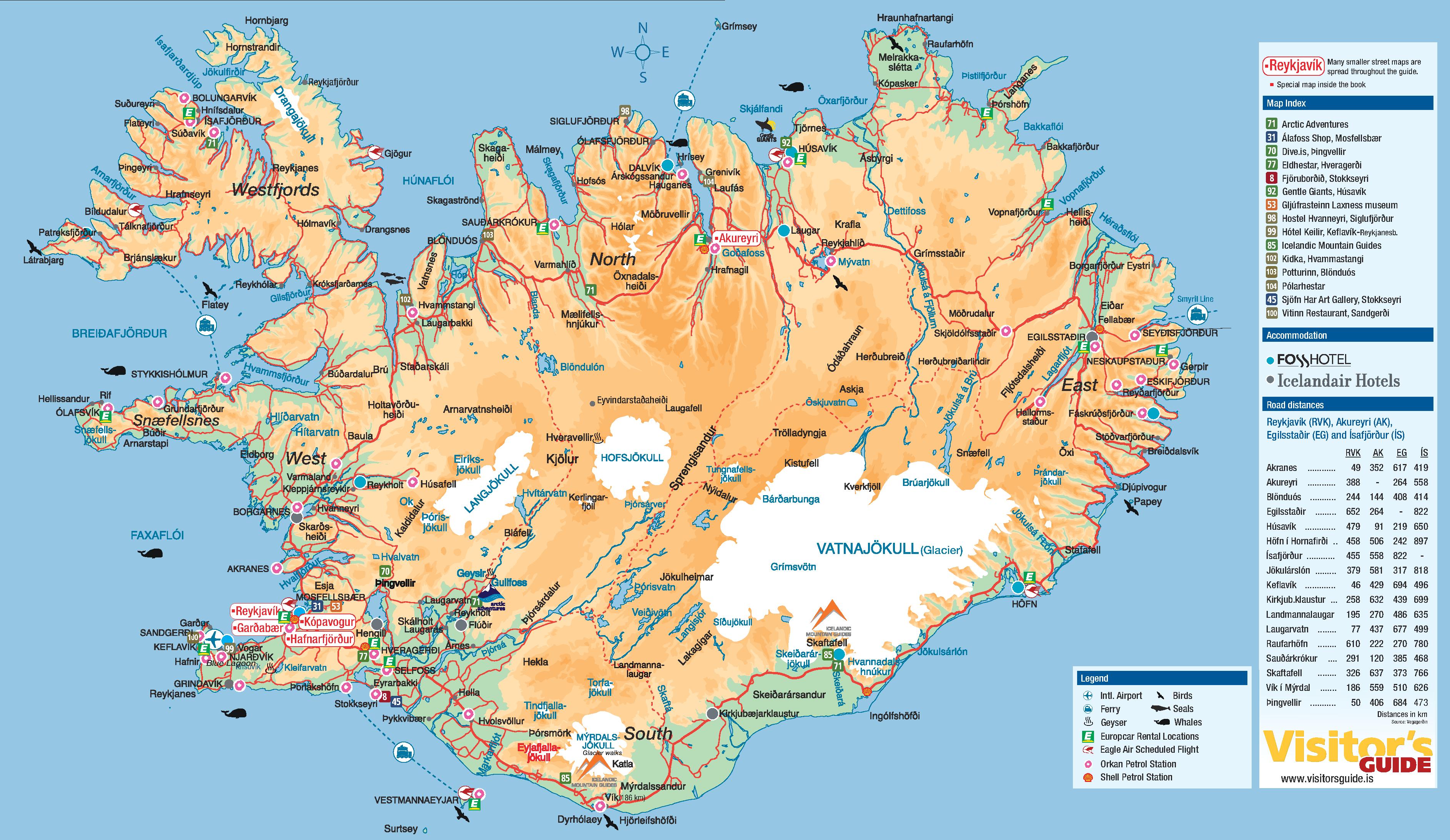 Carte Monde Islande